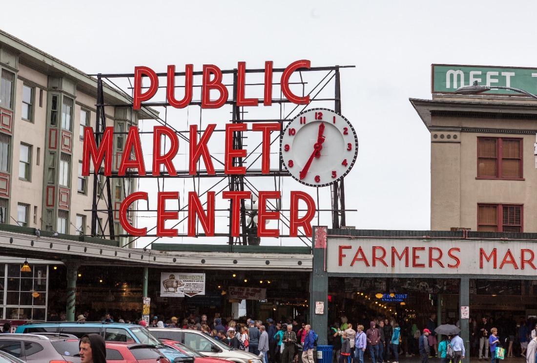 Pike Place Market Public Market Center Sign Seattle