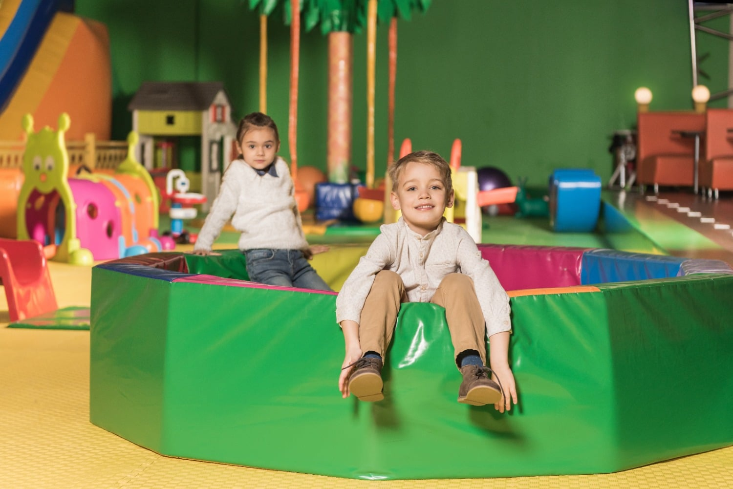 Two Children in Playplace