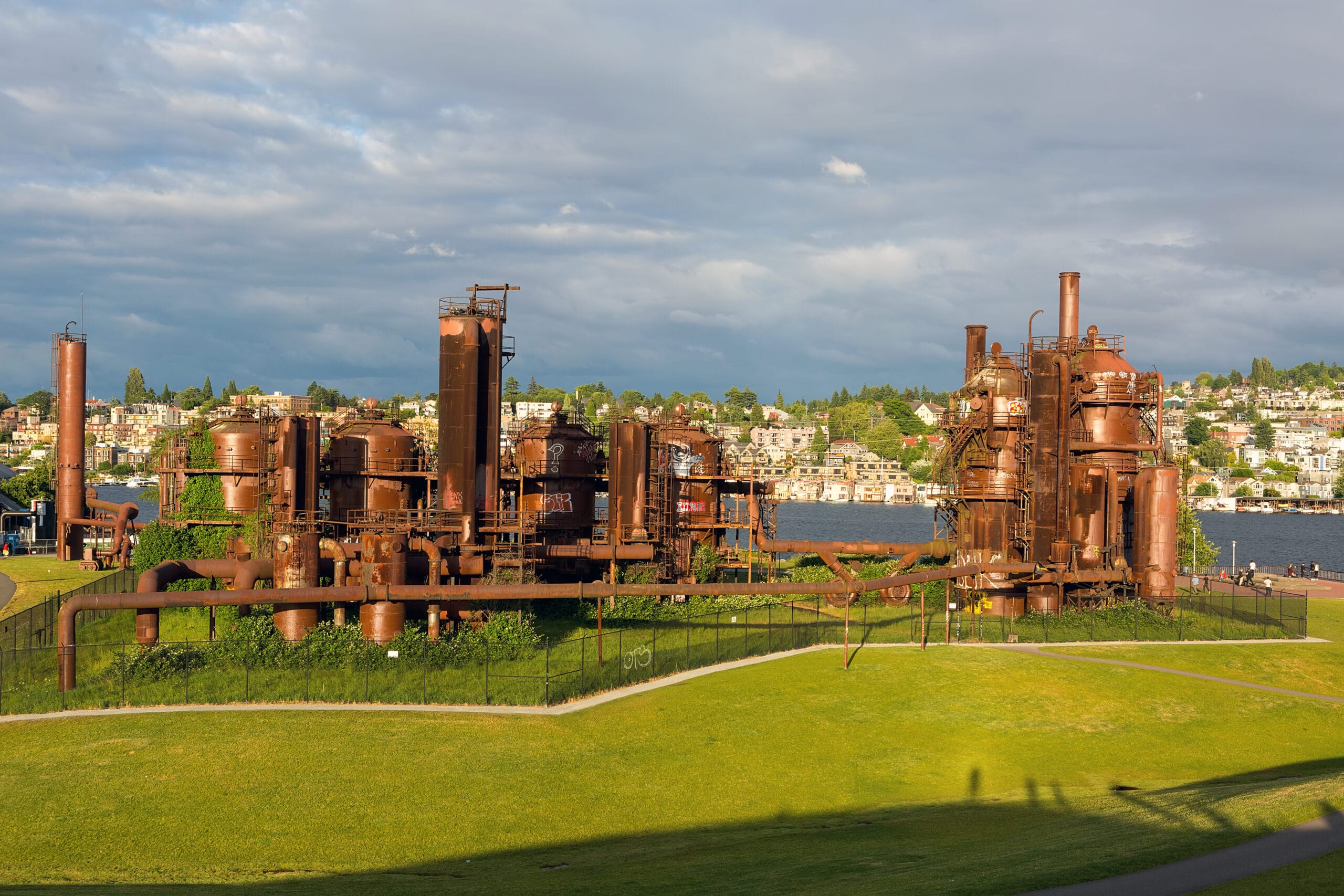 Gas Works Park by Lake Union in Seattle Washington